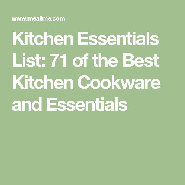 Best 20 Kitchen Essentials List ideas on Pinterest