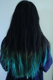 blue ombre hair turquoise