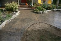 Colored Concrete Patio | Ryan Job - Seamless stamped ...