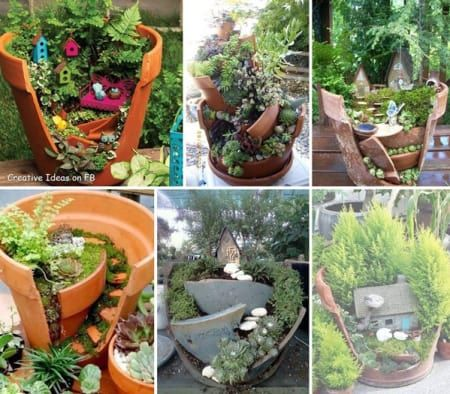The 25 Best Ideas About Broken Pot Garden On Pinterest Fairy