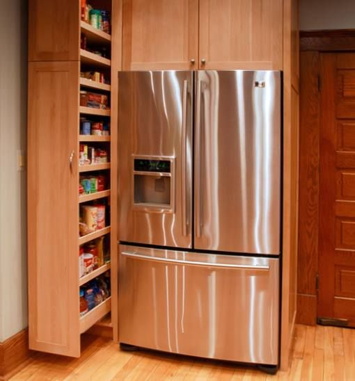 kitchen freestanding pantry natural walnut cabinets 17 best images about organisation on pinterest | bakeware ...