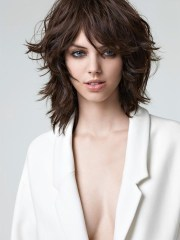 medium length hair cut with layers