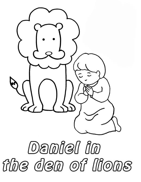 Daniel Prostrated in Front of God in Daniel and the Lions