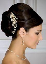 bride's classic sleek updo bun