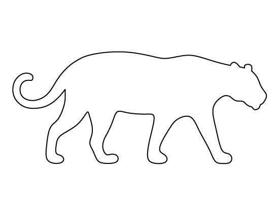 Jaguar pattern. Use the printable outline for crafts