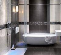 grey shower tile images | modern bathroom grey tile ...