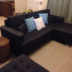 Small Living Room With Sectional Sofa Furniture :: Throw Pillows And Ottoman From Mandaue Foam ...
