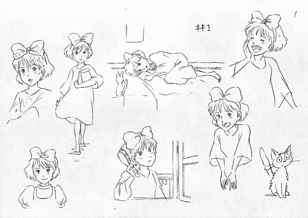 This is a picture of Lively Kiki's Delivery Service Coloring Pages