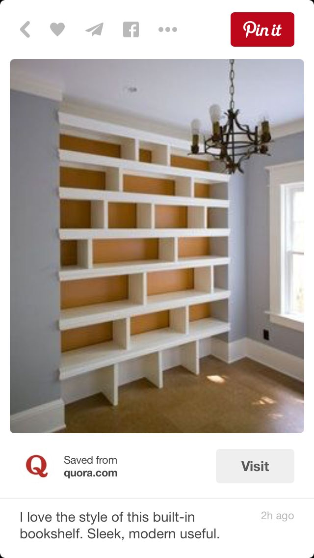 17 Best ideas about Bookcase Wall on Pinterest