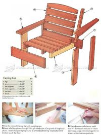 25+ best Wooden Chair Plans ideas on Pinterest