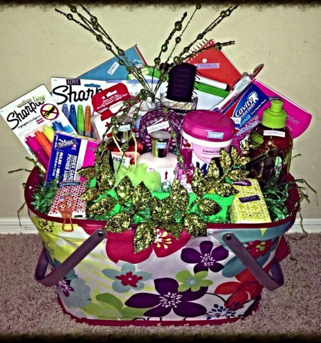 College student gift basket for her this basket is
