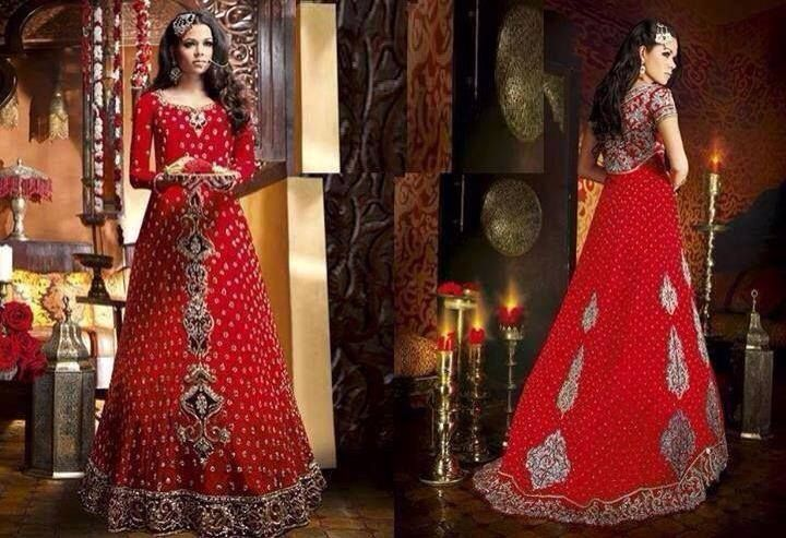 Red Color#Beautiful Bridal Dress ♥
