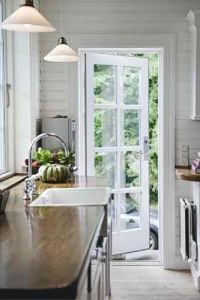 A single french door, perfect from kitchen to deck. | H o ...
