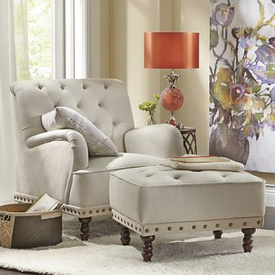 Tufted Chair and Ottoman from Country Door