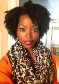Natural hair style: braid out