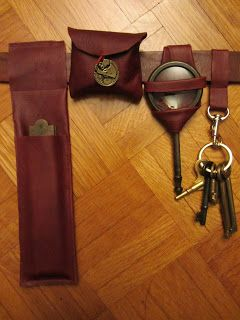 The Steam Wenchs Salon: Simple Steampunk Leather Stitchery – How to make simple cases to attach gadgets to your belt.