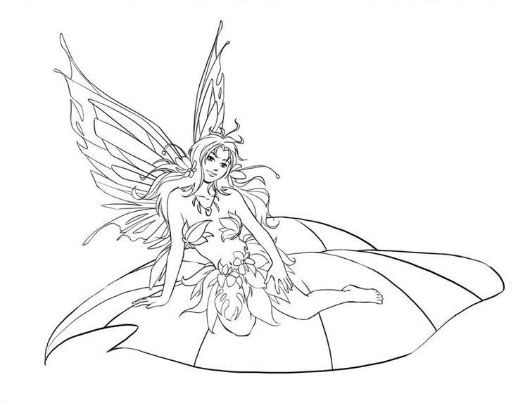 64 Best Lineart Fairy