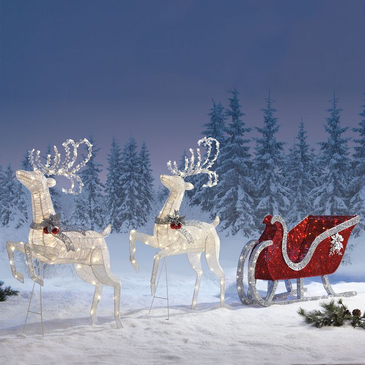 Christmas Sleigh Outdoorindoor Christmas Decoration
