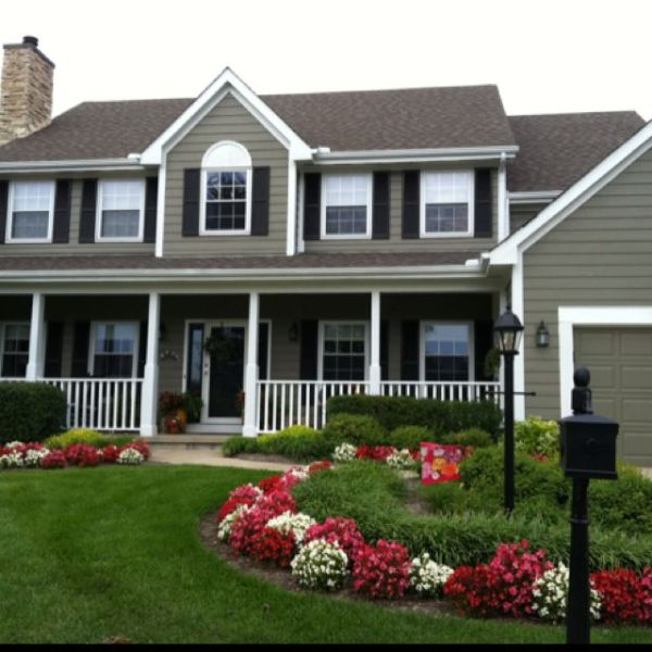 beautiful house and landscaping
