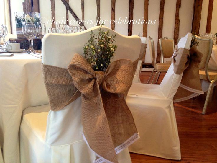 rustic farm table and chairs beach nice france burlap chair sashes | jute, hessian, pinterest chair, wedding