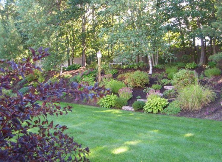 Hillside Garden Sloping Landscape Ideas Pinterest