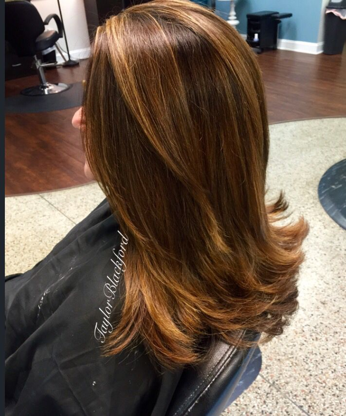 Golden Brown With Toffee Balayage Highlights The Art In