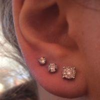 The 25+ best Triple lobe piercing ideas on Pinterest