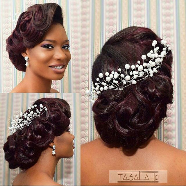 165 best images about African American Wedding  Hair style