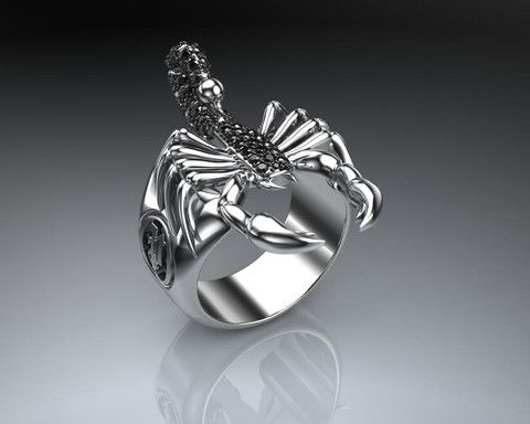 Sterling Silver Scorpion Ring Stun your fans and foes with