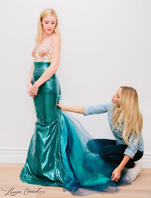 Maybe next year? Wish i could pull this off!! Lauren Conrads DIY Mermaid Halloween Costume {easy to make and so cute}