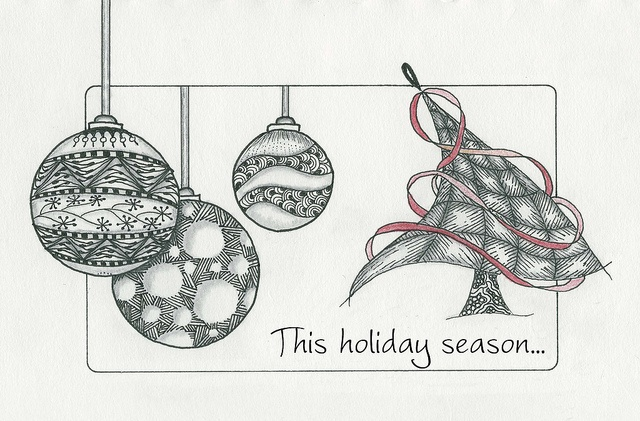 1000+ images about Zentangle Christmas on Pinterest