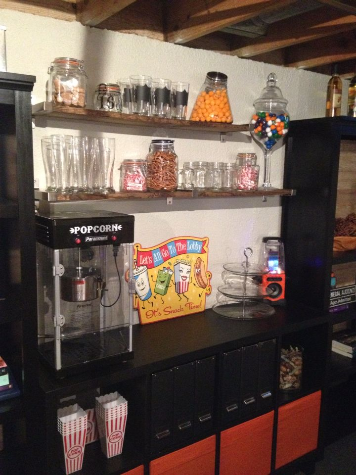 industrial kitchen hardware unfinished table our basement snack bar. | decorating damsel: diy ...