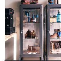 Ikea Fabrikor Glass Curio Display Cabinet Gray Industrial ...