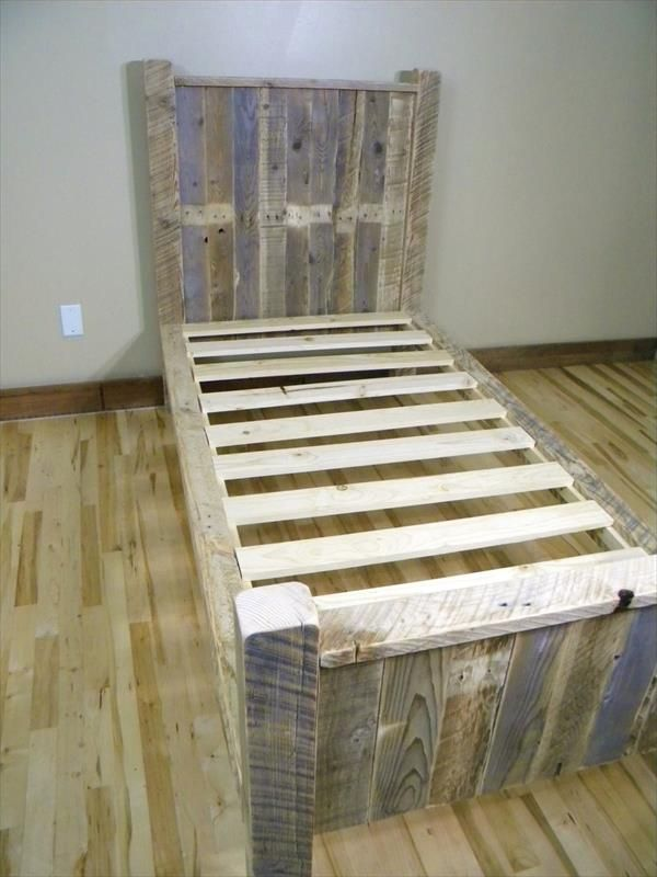 Adorable Diy Wooden Pallet Bed Frame Twin Bed