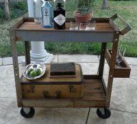 25+ best ideas about Industrial Bar Cart on Pinterest ...