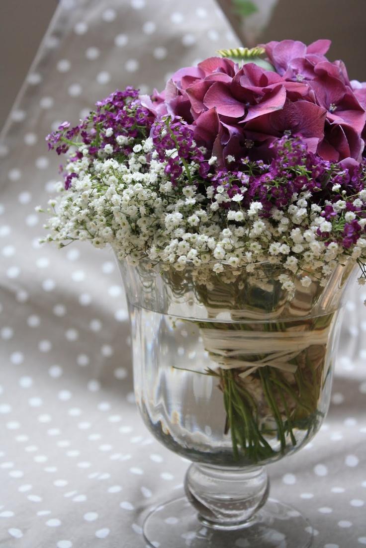Hortensien Lila Hochzeit