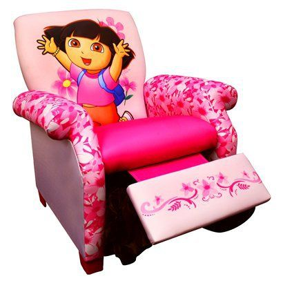 Nickelodeon Dora Kids Recliner Chairbaby girl loves dora