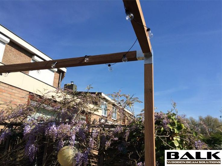 Pergola construction made with BALK connectors  couplings