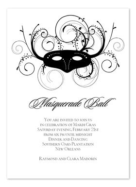 17 Best images about masquerade invitations on Pinterest