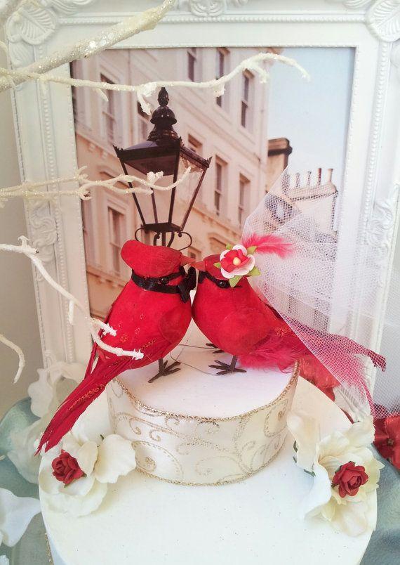 RESERVED LISTING Cutest Cardinal Couple Love Birds Wedding