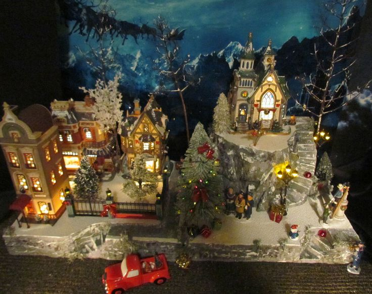 Christmas Village Display MOUNTAIN OVERLOOK Platform Base