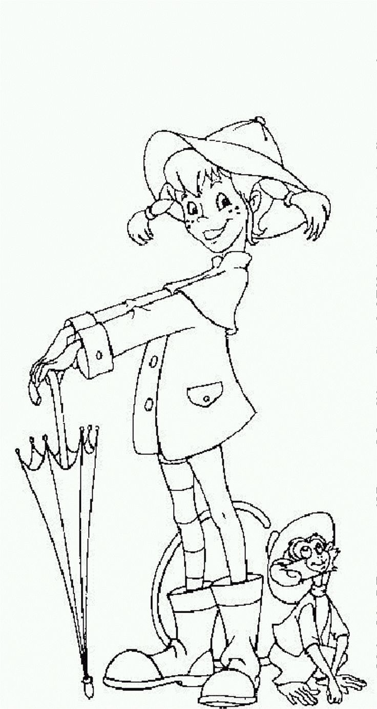 Pippi Longstocking Free Printable Coloring Pages No 5