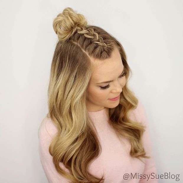 25 Best Ideas About Half Updo Tutorial On Pinterest Cute Cheer