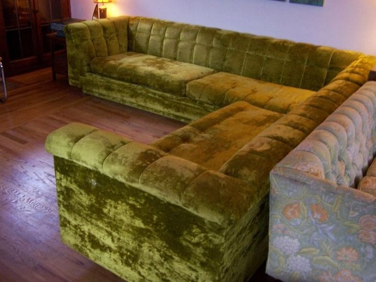 sofa bed green velvet brand names international furniture plush vintage sectional ...