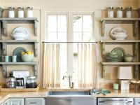 Sweet Kitchen Shelves Instead Of Cabinets : Open Kitchen ...