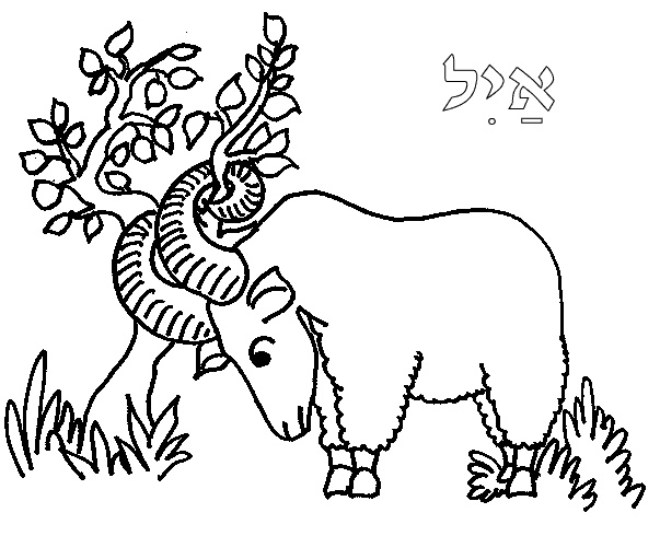 great way of showing ram in thicket that God provides, can