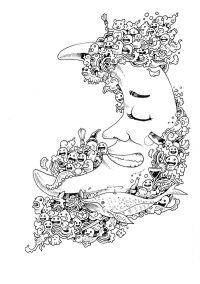 Doodle Invasion Coloring Book by Kerby Rosanes, via ...