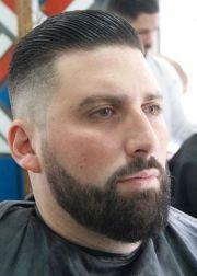 fade top slicked barbershops