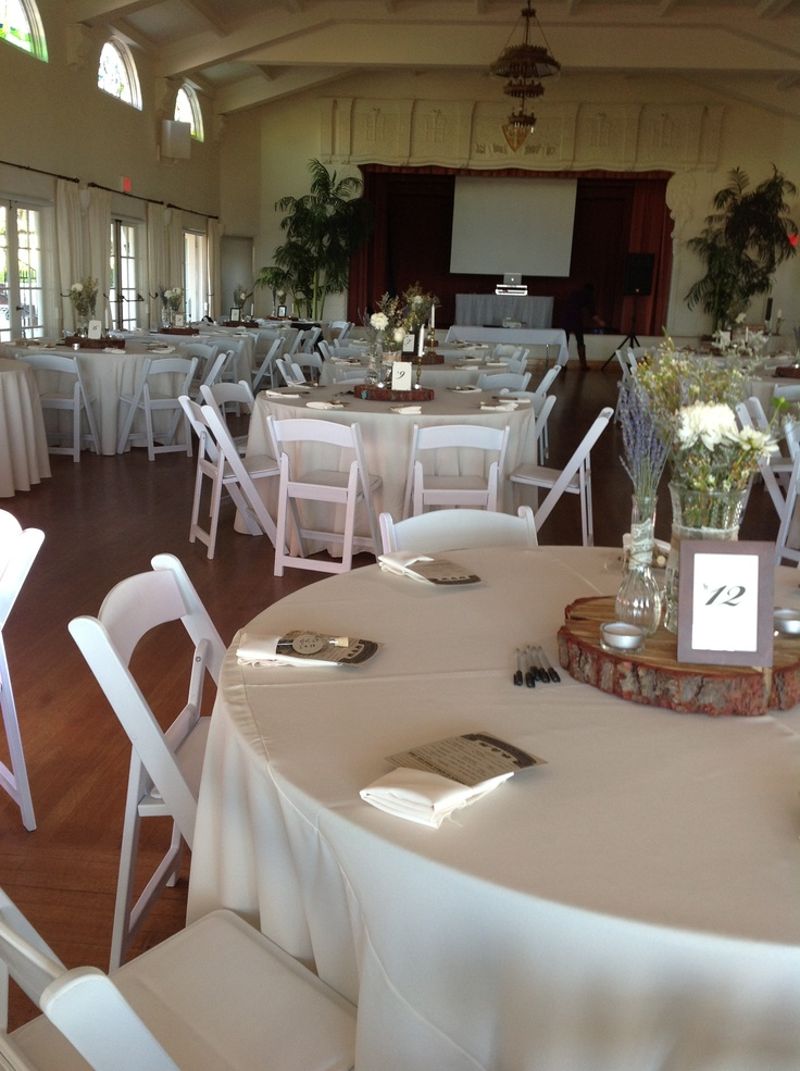 chair covers and linens double lounge white resin chairs, ivory linens, napkins | reception pinterest receptions, chairs ...