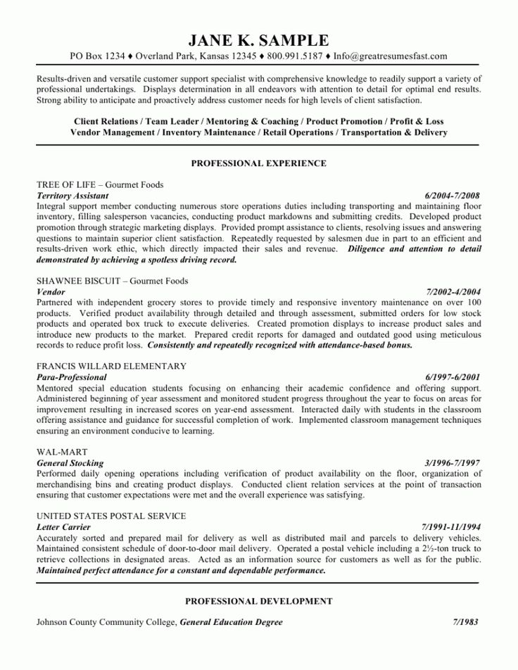 Sample Of Customer Service Resume. Customer Service Resume Sample